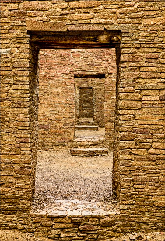 Doorways in Pueblo Bonita